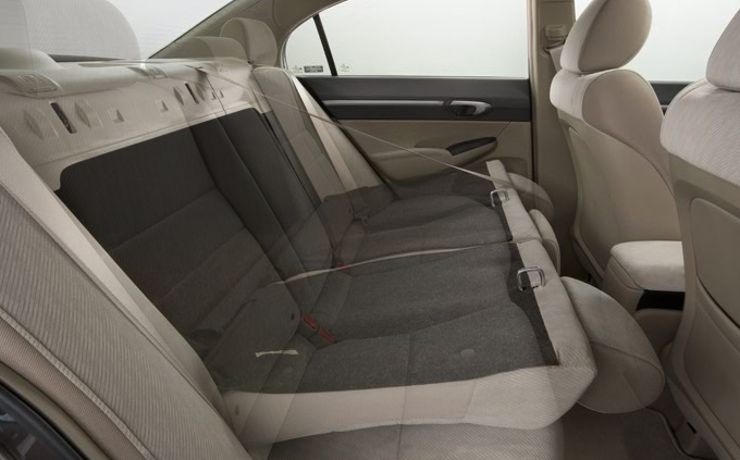 2009 Honda Civic, Interior Back Seat View, interior, manufacturer