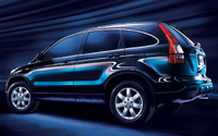 2009 Honda CR-V, Back Left Quarter View, manufacturer, exterior