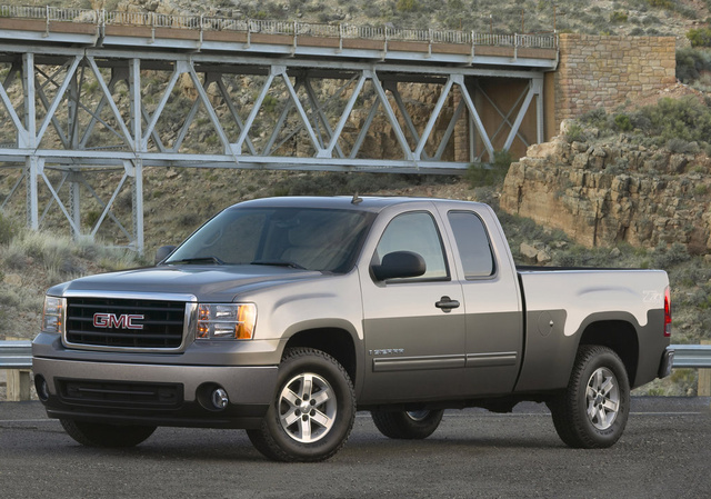 2009 GMC Sierra 1500, Front Left Quarter View, exterior, manufacturer
