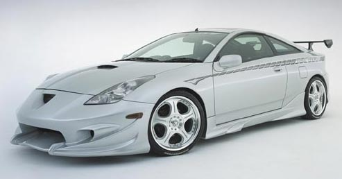 Acura 2008 on Toyota Celica With White Color