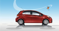 2009 Toyota Yaris, Right Side View, exterior, manufacturer