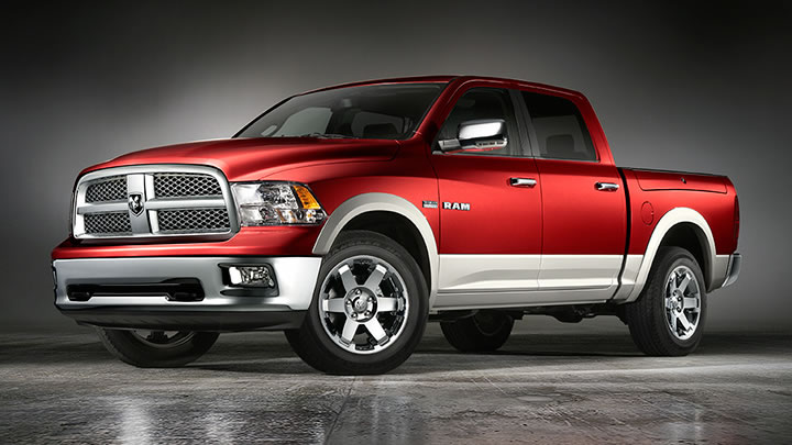 2009 Dodge Ram Pickup 1500, Front Left Quarter View, exterior, manufacturer