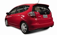2009 Honda Fit, Back Left Quarter View, exterior, manufacturer