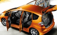 2009 Honda Fit, Doors Open, manufacturer, exterior, interior