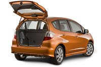 2009 Honda Fit, Back Right Quarter View, manufacturer, exterior, interior