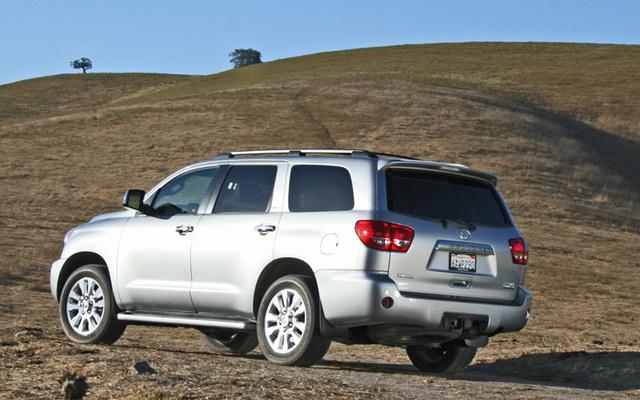 2009 Toyota Sequoia, Back Left Quarter View, exterior, manufacturer