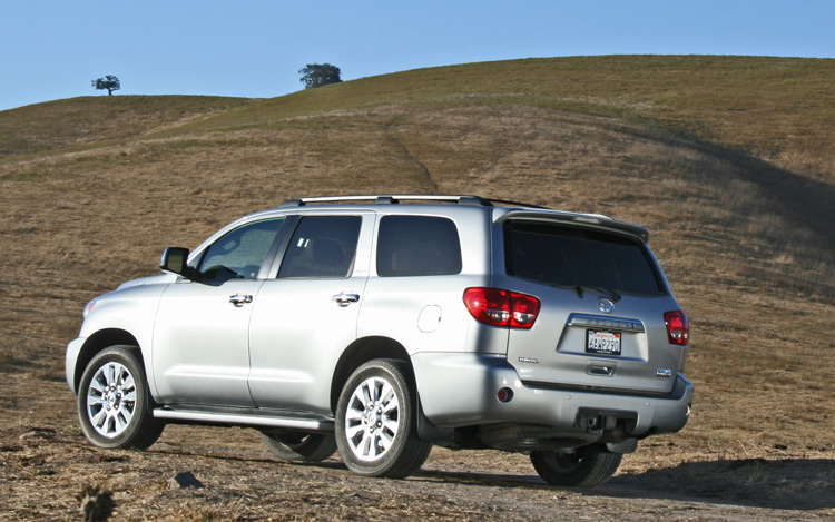 2009 Toyota Sequoia, Back Left Quarter View, manufacturer, exterior