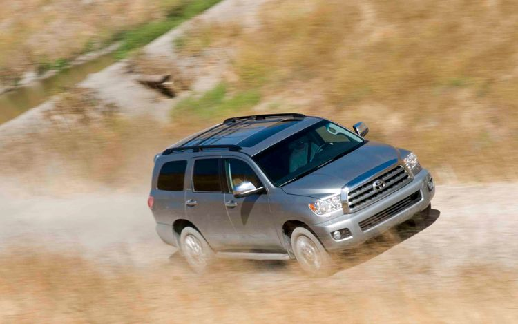2009 Toyota Sequoia, Front Right Quarter View, manufacturer, exterior