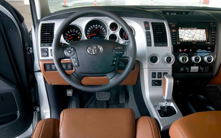2009 Toyota Sequoia, Interior Dash View, interior, manufacturer