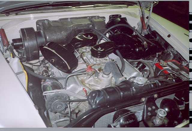 1957 Plymouth Belvedere, The 301 V8 with V-800 option, engine, gallery_worthy