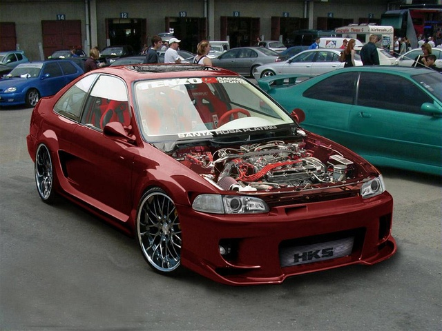 Picture of 1995 Honda Civic Coupe, exterior, engine