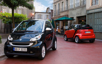 2009 smart fortwo, Front and Back Views, exterior, manufacturer