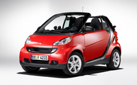 2009 smart fortwo passion cabrio, Front Left Quarter View, exterior, manufacturer