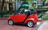 2009 smart fortwo passion cabrio, Back Left Quarter View, manufacturer, exterior