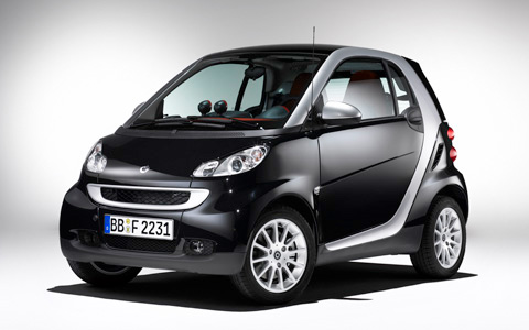 2009 smart fortwo, Front Left Quarter View, manufacturer, exterior
