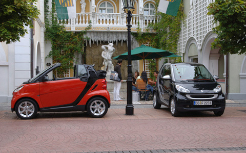 2009 smart fortwo, Side and Front Views, manufacturer, exterior
