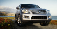 2009 Lexus LX 570, Front Right Quarter View, exterior, manufacturer