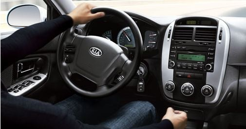 2009 Kia Spectra, Interior Front View, interior, manufacturer