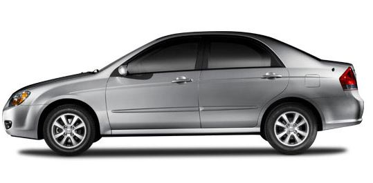 2009 Kia Spectra, Left Side View, manufacturer, exterior