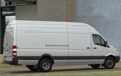 2009 Dodge Sprinter Cargo, Back Right Quarter View, exterior, manufacturer