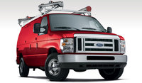 2009 Ford E-Series Cargo, Front Right Quarter View, exterior, manufacturer