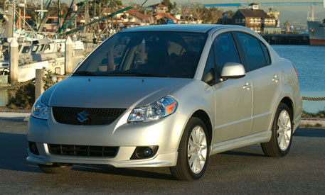 2009 Suzuki SX4 Base, Front Left Quarter View, manufacturer, exterior