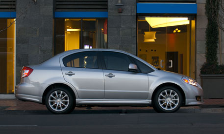 2009 Suzuki SX4 Base, Right Side, exterior, manufacturer