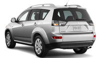 2009 Mitsubishi Outlander, Back Left Quarter View, manufacturer, exterior