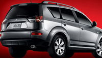 2009 Mitsubishi Outlander, Back Right Quarter View, manufacturer, exterior