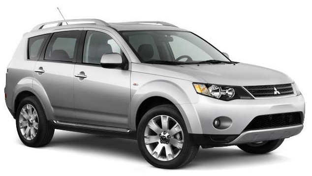 2009 Mitsubishi Outlander, Front Right Quarter View, exterior, manufacturer