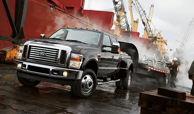 2009 Ford F-450 Super Duty, Front Left Quarter View, exterior, manufacturer, gallery_worthy