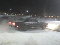 1981 Chrysler Cordoba, Wintertime,  Midnight in the Atheletics Park, exterior