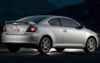 2009 Scion tC, Back right Quarter View, manufacturer, exterior