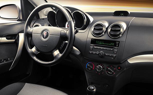 2009 Pontiac G3, Interior Front View, interior, manufacturer