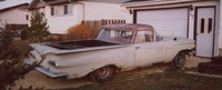 1959 Chevrolet Impala, what was I thinking ... I bought this rusty beast in the dark ... 1959 Elcamino , exterior