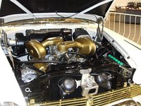 1957 Plymouth Fury, 318 V8 with the dual quads (V-800) standard equipment on all 1957 Furys , engine