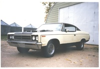 1970 AMC Rebel, As I got her ... 69,000 miles ... a Rebel Machine ... this is the quickest car I ever drove ... and I just loved the hoodscoop with the tach in it ... waycool!!