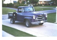 1968 International Harvester Pick-Up, This isn't a '68 ... it is a '57 ... basicly a stock pickup except fot  the 350 Chev engine and the wheels ... this truck was so uncomfort...
