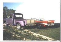 1968 International Harvester Pick-Up, My two '57s posing beside the winter storage quansit at my friend's place, exterior
