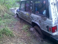 1991 Mitsubishi Montero LS 4WD, one of the two only times I ever got stuck in it, exterior, gallery_worthy