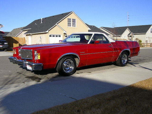 1979 Ford Ranchero, 1979 Rancher 500 Red with white top and red leather interior, exterior