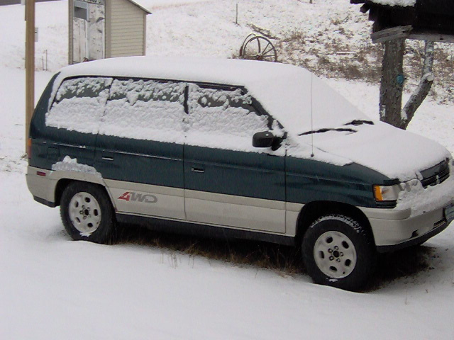 my 1995 Mazda MPV 4wd 3 door bad ass van