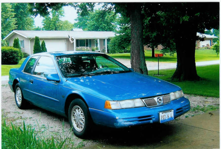 1994 Mercury Cougar 2 Dr XR7 Coupe, My kitty sitting in the yars, exterior