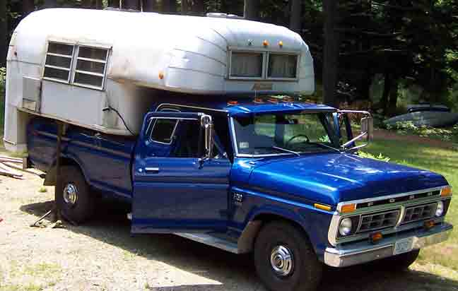 1976 Ford F-250, 1976 f250 Camper Special with Avion C10, exterior