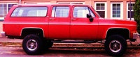 1990 Chevrolet Suburban R2500, 305, 6 lift , 33 mud + snow tires, 3 speed with granny gear, automatic fourwheel drive on floor, double back doors, 2 seater, exterior