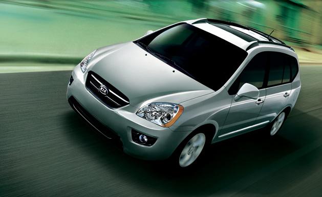 2009 Kia Rondo, Front Left Quarter View, exterior, manufacturer