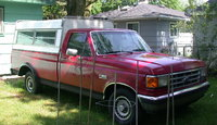 1988 Ford F-150, my 88 w/ cica 1975 Astro cap camper shell, exterior