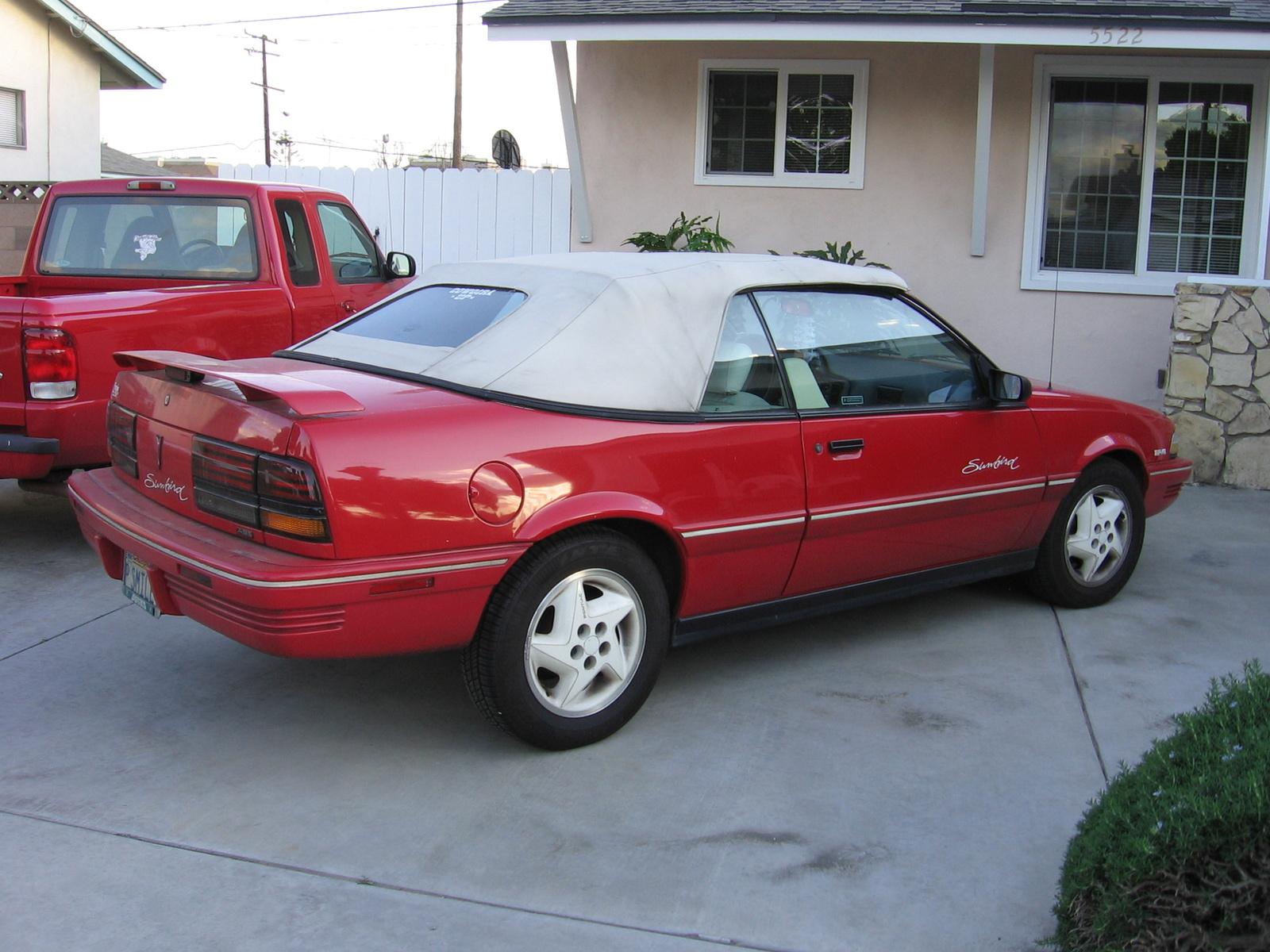 1992 Pontiac Sunbird 2 Dr SE Convertible - Pictures - 1992 Pontiac ...