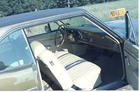 1971 Plymouth Scamp, Interior, original equipment 71 Scamp, interior
