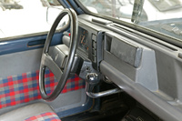 1984 Renault 4, good 'ole renault 4 umbrella shifter., interior